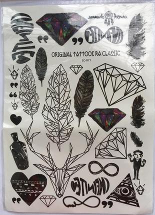Флеш тату, временные татуировки, flash tattoo, переводные тату