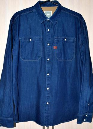 Рубашка джинсовая g-star raw® original xxl б.у. ly66