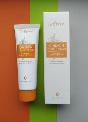 Крем витамин с и ниацинамид осветляющий isntree c-niacin tonin...