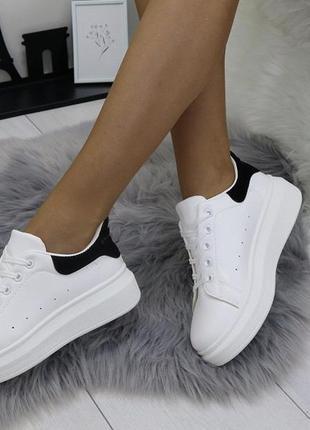 Белые кроссовки ботинки кеды в стиле  mcqueen