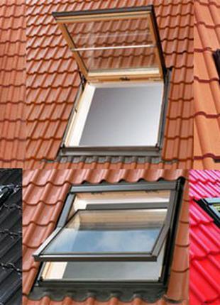 Мансардное окно Roto  WDF R45 H N AL 07/11 74x118 см с окладом