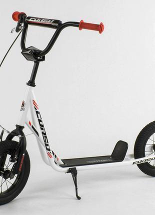 Самокат`Corso`` колеса надувные 12, с ручным тормозом