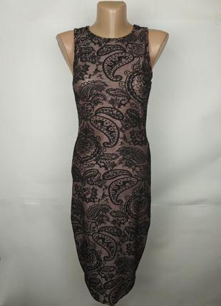 Платье новое стильное в орнамент atmosphere uk 8/36/xs