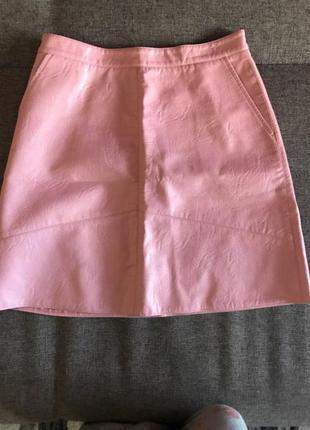 Sale.шикарная юбка трапеция ,имитация  кожи 🍭