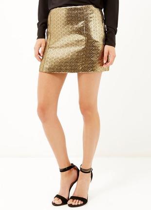 Золотая юбка на подкладке