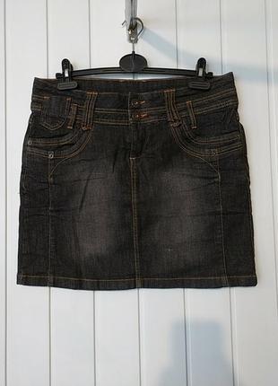 Супер джинсовая юбка большого размера