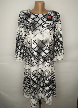 Платье красивое новое в орнамент next uk 14/42/l