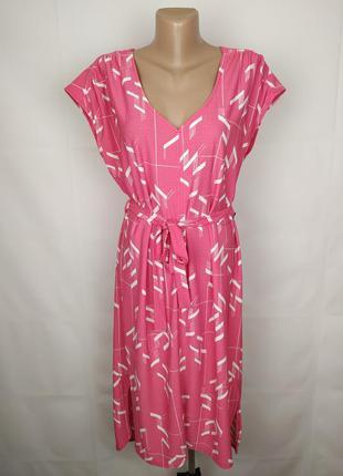 Платье новое модное розовое в геометрический принт next uk 14/...