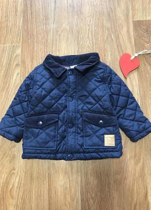 Крутая куртка стёганка с вельветовыми вставками