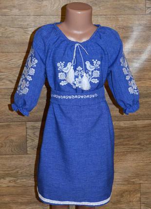 Вишиванка, вышиванка, платье с вышивкой для девочки 5-6 лет