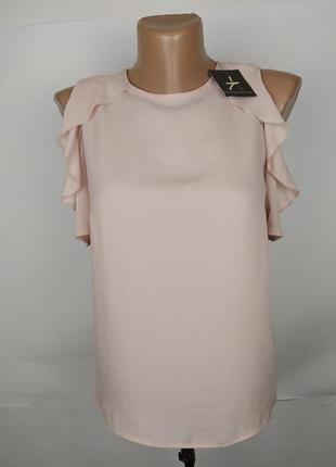 Блуза новая маленькая нежного розового цвета uk 4