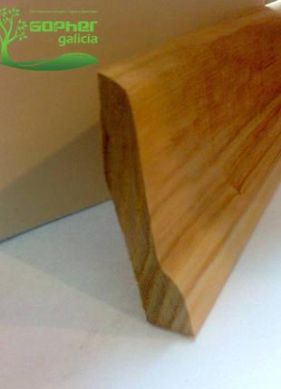 Плінтус ясеновий 1 сорт 75x25 мм