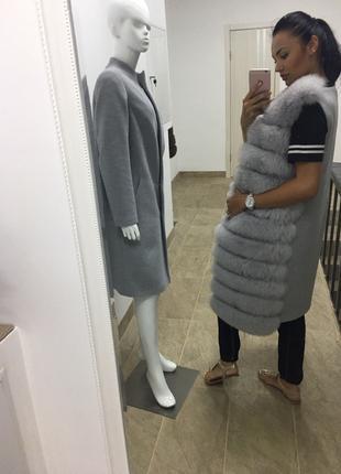 комплект пальто и желетка