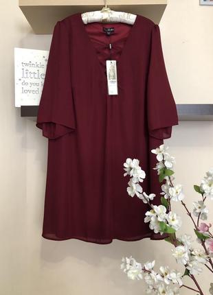 Красивое шифоновое платье свободного кроя, платье с переплетом