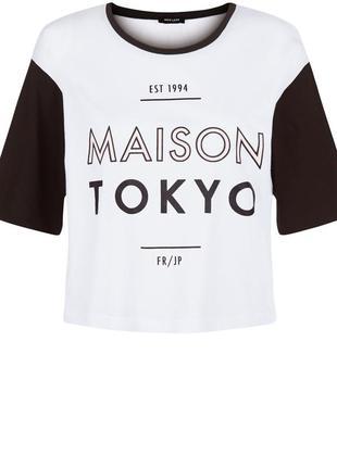 Натуральная футболка maison tokyo