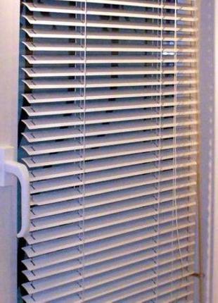 Жалюзи на окна горизонтальные готовые пластиковые белые