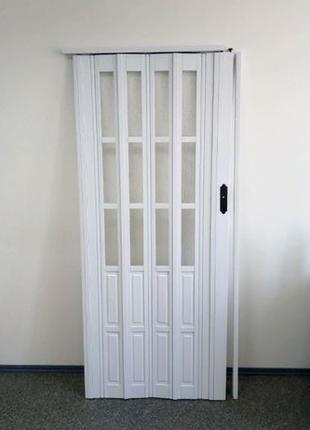 Дверь гармошка 12-20мм полуостекленная Build System Тайвань