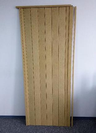 Складная дверь гармошка Дуб светлый 810х2030х6мм не экономка