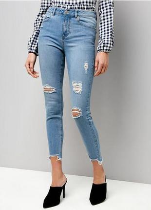New look jenna стильные джинсы скинни с высокой посадкой талией