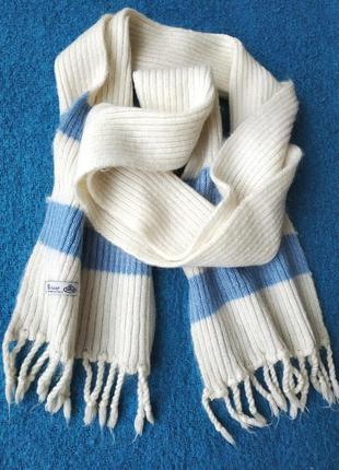 Роскошный длинный шарф италия 💖 мохер бахрома 💖 длина 205 см