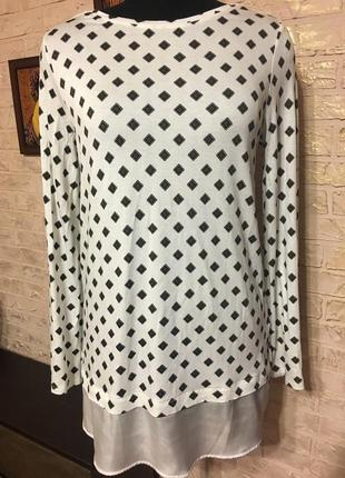 Натуральная блуза в квадратики