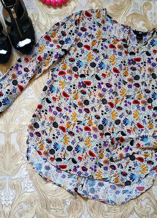 Оригинальная блуза. на бирке- 36 р-р(42)