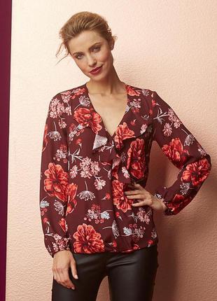 Блуза в цветах anthology