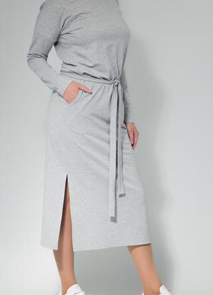 Платье женское с длинным рукавом,поясом,ниже колена от бренда ...
