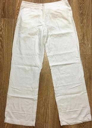 Натуральные брюки, лен и вискоза