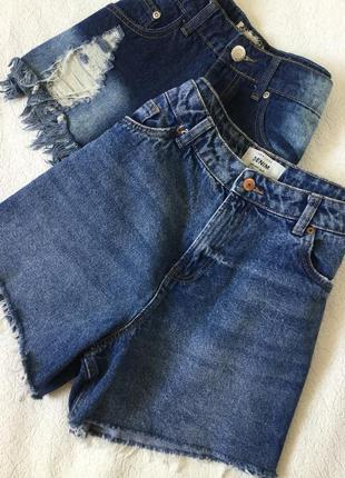 Шорты джинсовые с высокой посадкой new look размер 14