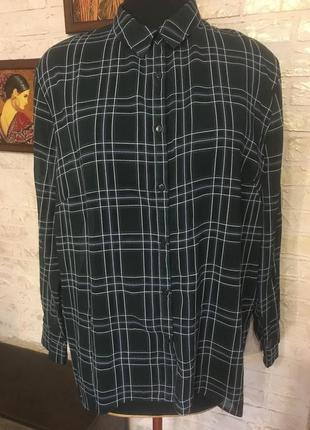 Шифоновая рубашка в клеточку