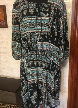 Платье восточный принт