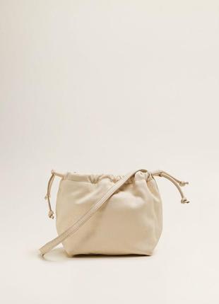 Шкіряна сумка mango, кожаная сумка на длинной ручке, кроссбоди...