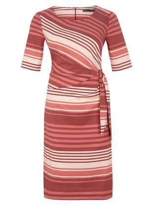 Невероятное платье в полоску с узлом спереди s. oliver