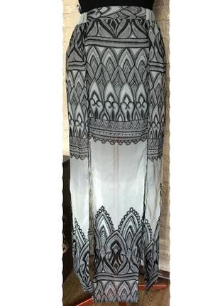 Шифоновая юбка в пол, на подкладке