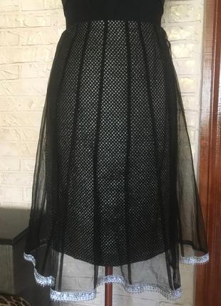 Блестящая юбка с фатином