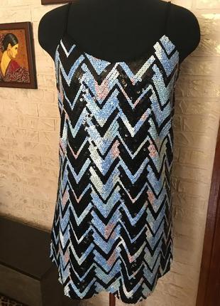 Платье в пайетки, на подкладке