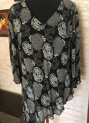Ассиметричная блуза на подкладке