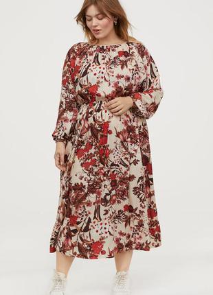 Неимоверно женственное платье h&m+  54-56-58