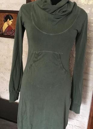 Натуральное платье хаки от diesel