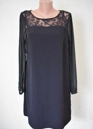 Новое красивое платье с кружевной вставкой george