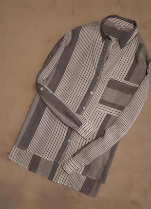 Рубашка блузка в полоску размер 16 next