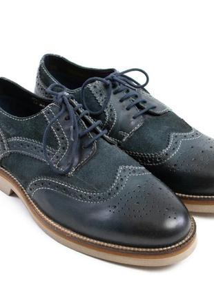 Мужские туфли броги сafe мoda. размер: 45.