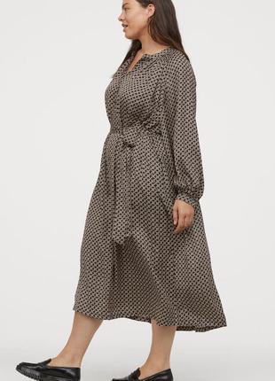 Атласное платье h&m + c поясом  uk 22-24-26