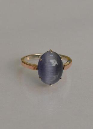 Кольцо серебро 925 с золотом 147к