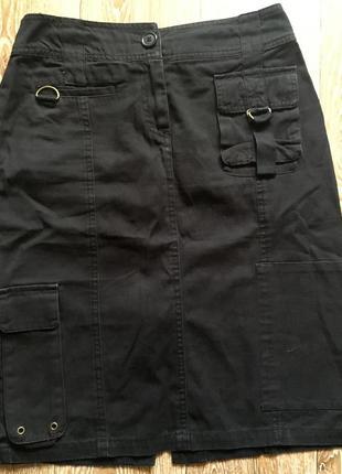 Джинсовая черная юбка