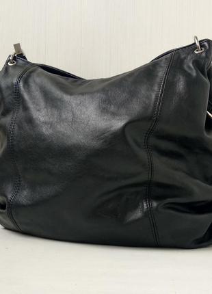 Добротная большая кожаная сумка