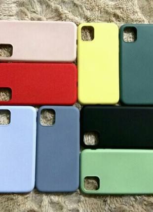 Новый силиконовый чехол для Apple iPhone 11 (Эпл Айфон 11)