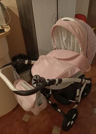 Детская коляска Adamex Galactic 2в1 + насос в подарок