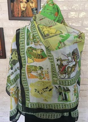 Легкий шарф в египетском стиле